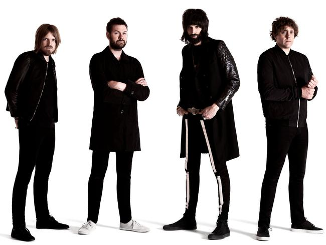 Kasabian have looked to Kanye West for inspiration for their latest record. Picture: Supplied