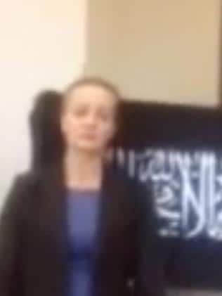 Marcia Mikhael appears in a video posted by gunman Man Haron Monis.