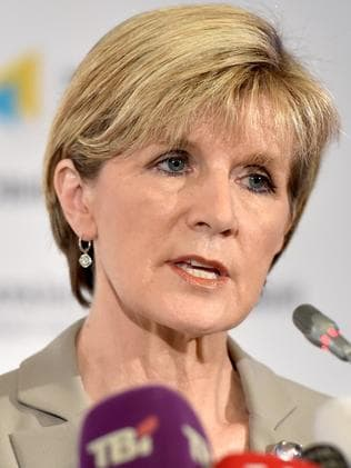 Tense times with much at stake ... Australian Foreign Minister Julie Bishop. Picture: Sergei Supinsky