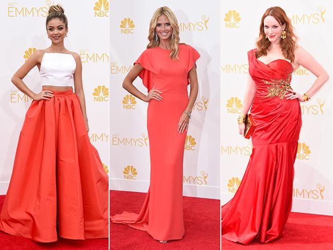 Sarah Hyland, Heidi Klum and Christina Hendricks. Picture: Getty