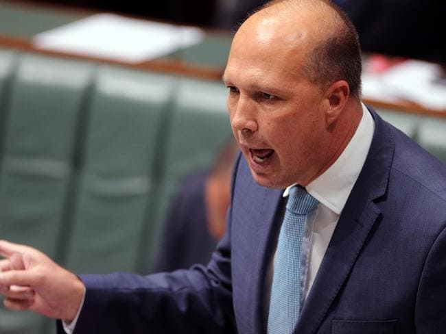Peter Dutton has admitted the government 'wouldn't take anyone until we had assurances that people are going to go off Nauru and Manus'. Picture Gary Ramage