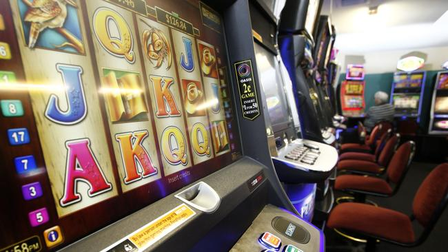 In Tasmania 2300 problem gamblers provide 40 per cent of the $213 million lost on the machines in this state each year. Picture: KIM EISZELE