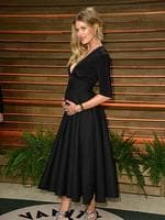 Victoria's Secret model Doutzen Kroes attends the 2014 Vanity Fair Oscar Party. The model is already mum to three-year-old son Phyllon and is due in July. Picture: Getty