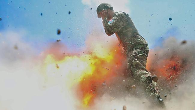A mortar accidentally exploded during a training exercise in July 2013. Picture: Hilda Clayton/US Army