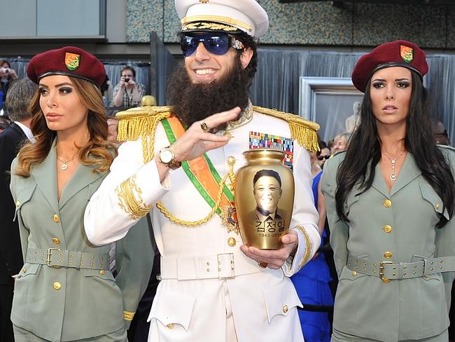 Making an entrance ... Sacha Baron Cohen showed up to the 2012 ceremony dressed as his character from The Dictator.