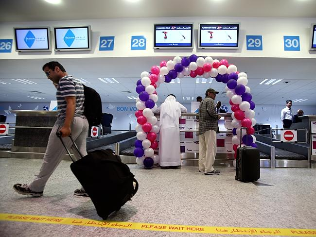 Passengers check-in at the newly opened Al Maktoum International Airport. Picture: AP