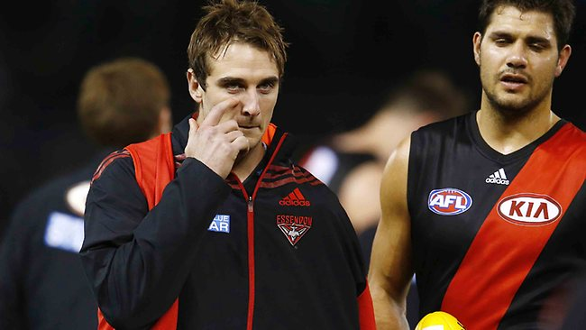 After breaking his collarbone, thousands of SuperCoaches are jumping off Jobe Watson. Picture: Michael Klein