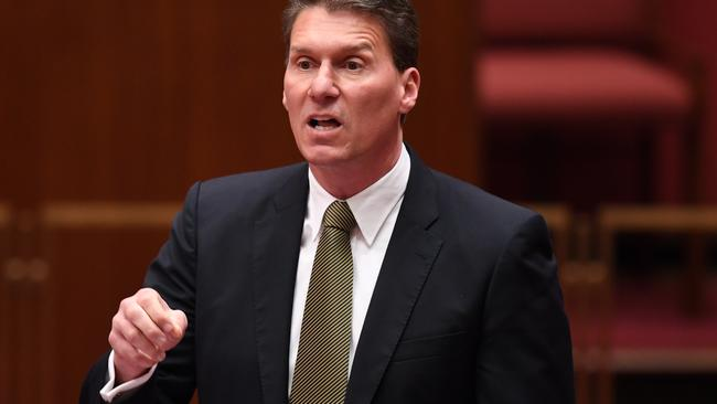 Australian Conservatives Senator Cory Bernardi believes any business should be able to refuse any customer for any reason, including simply because they are gay. Picture: AAP Image/Lukas Coch.