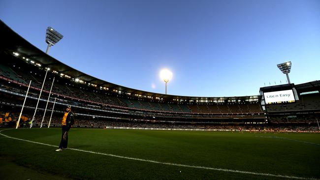 The MCG's lights went out during the second quarter. Picture: Tim Carrafa