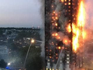 "This handout image received by local resident Natalie Oxford early on June 14, 2017 shows flames and smoke coming from a 27-storey block of flats after a fire broke out in west London. The fire brigade said 40 fire engines and 200 firefighters had been called to the blaze in Grenfell Tower, which has 120 flats. / AFP PHOTO / Natalie Oxford / Natalie OXFORD / -----EDITORS NOTE --- RESTRICTED TO EDITORIAL USE - MANDATORY CREDIT ""AFP PHOTO / Natalie Oxford"" - NO MARKETING - NO ADVERTISING CAMPAIGNS - DISTRIBUTED AS A SERVICE TO CLIENTS - NO ARCHIVES"
