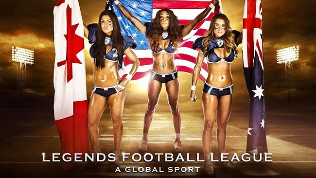 Legends Football League is heading Down Under. The Australian uniform will be similar to the uniform worn in this photo.