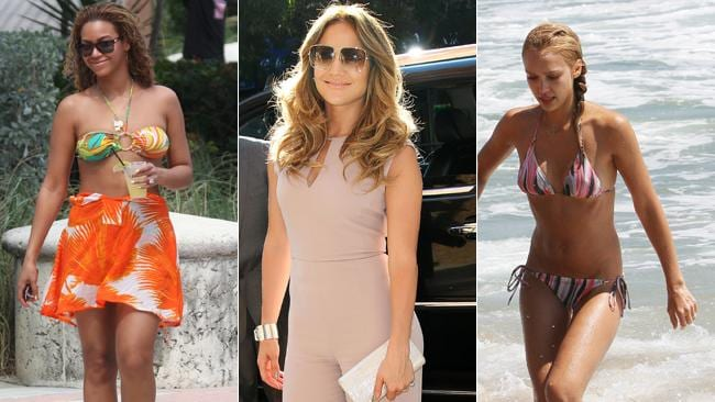 Beyonce, Jennifer Lopez and Jessica Alba do 'beach chic' so well. Picture: Splash News