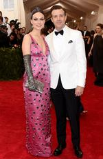 """Olivia Wilde and Jason Sudeikis attends the Met Gala 2015 """"China: Through The Looking Glass"""". Picture: Getty"""