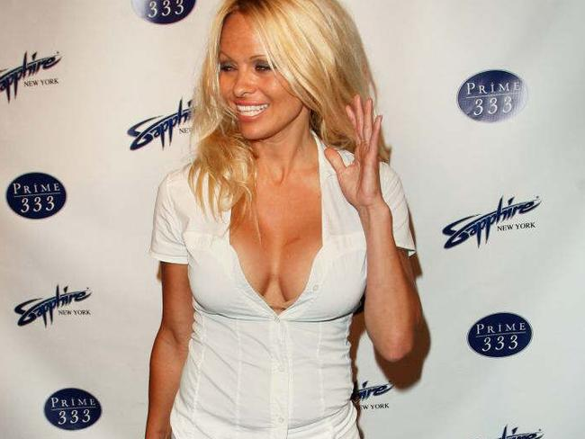 Pamela Anderson was grilled about her romantic interest in Assange.