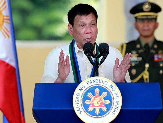 Philippine President Rodrigo Duterte was ready for talks with China to try to solve their maritime dispute, after his government won an international arbitration case. Picture: AP