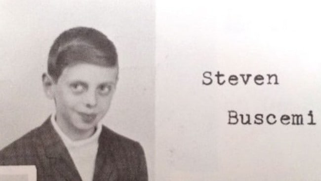 Steve Buscemi in primary school. Aww, he hasn't changed a bit!