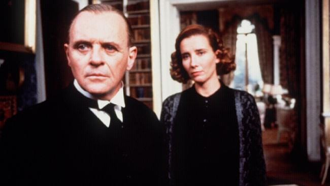 Thompson with Anthony Hopkins in Remains Of The Day.
