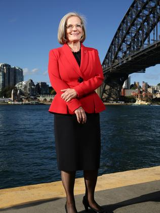 Lucy Turnbull at Pier One, Walsh Bay ahead of the 2016 Bradfield Oration. Picture: Jonathan Ng