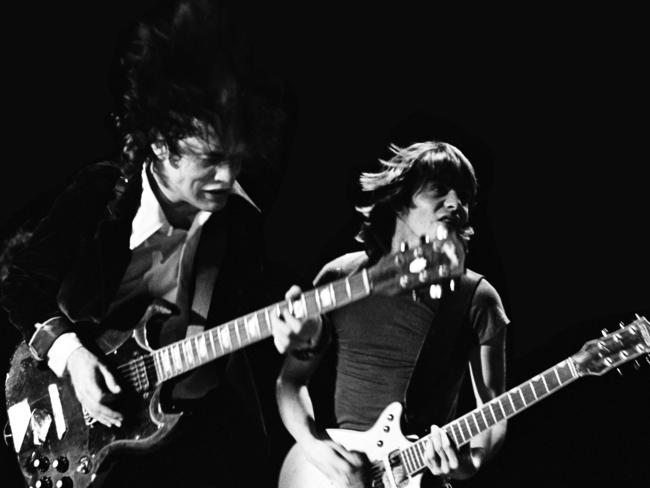 Angus Young and Malcolm Young from AC/DC.