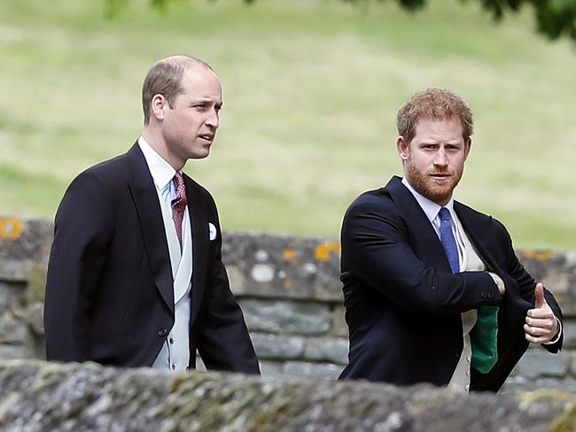 Wills and Harry have arrived. Picture: AP Photo/Kirsty Wigglesworth