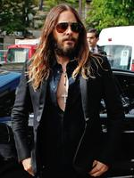 American actor Jared Leto arrives to attend the Giorgio Armani Prive show as part of Paris Fashion Week - Haute Couture Fall/Winter 2014 in Paris, France. Picture: AP