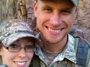 After the alleged attack, a family friend setup a GoFundMe page stating that Mr Daughtery (pictured above with his fiancé) and his group were involved in a shoot-out with some illegal immigrants that were trying to steal his RV Go Fund Me