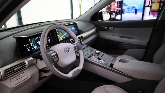 Cabin of Hyundai fuel-cell vehicle.