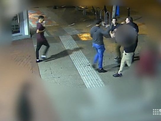 Police are still searching for three of the four men. Picture: Nine News