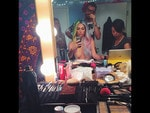 "Behind The Scenes 2014 MTV VMAs... Singer Kesha posts, ""just doesn't feel right NOT posting a partially nude pre vma look. #rainbownakedboob"" Picture: Instagram"