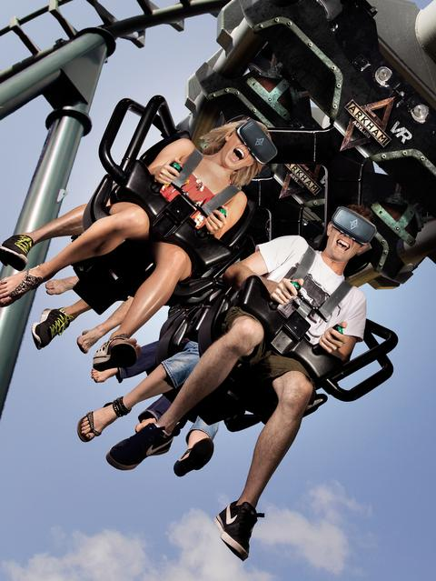 REAL REVOLUTION: Arkham Asylum is a thrilling real world ride made even more amazing by virtual reality technology.