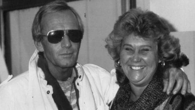 Paul Hogan with first wife Noelene Hogan.