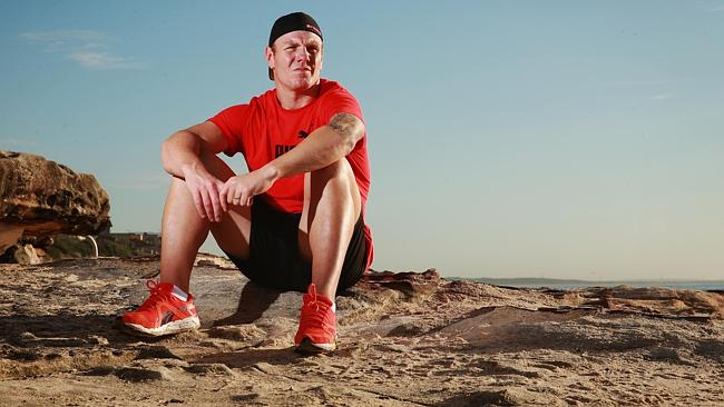 NRL star Luke Lewis pictured at Cronulla after a horrible start to season 2014.