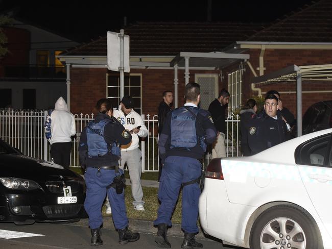 Police at the scene. Picture: Gordon McComiskie