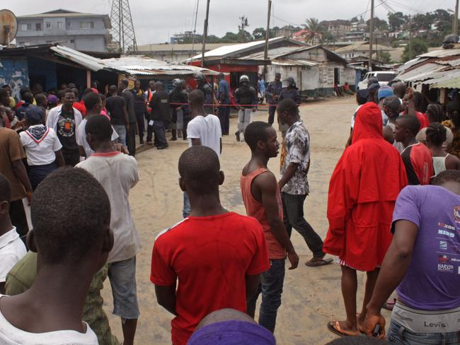 The West Point area that has been hardest hit by the Ebola virus spreading in Monrovia, Liberia.
