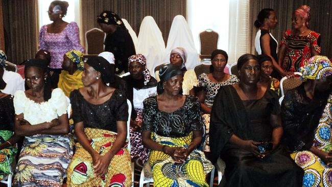 The forgotten ones ... mothers of some of the schoolgirls abducted from their school in Chibok gather at a meeting in Lagos.