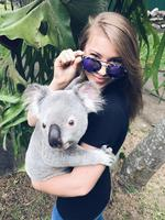 "Bindi Irwin uses a Koala to spruik eyewear - because Koala's need sunnies... ""I am incredibly honoured to be a #DIFFPartner. @diffeyewear are truly making a difference, for every pair of sunglasses sold, DIFF donates a pair of reading glasses to someone without immediate access to vision care. Even our koalas love DIFF sunglasses! Be sure to check them out and use the code BINDI for 25% off at diffeyewear.com. You can look gorgeous and feel good about supporting a great cause."" Picture: Bindi Irwin / Instagram"