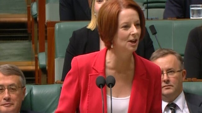 Julia Gillard hits out at Tony Abbott during Question Time.