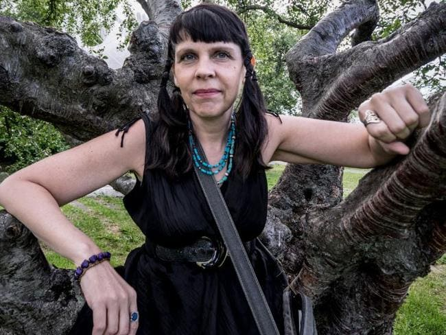 Poet Birgitta Jonsdottir is transforming politics in Iceland. Picture: Giles Clarke/Getty