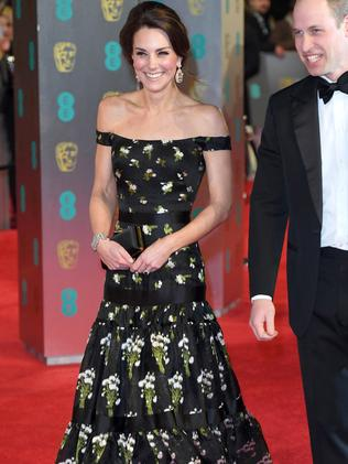 The Duchess of Cambridge attends the 2017 BAFTAs in London, England. Picture: Karwai Tang/WireImage