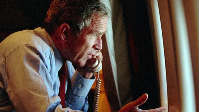 september 11 attacks and air force 9/11: fifth mystery plane above white house 'was £170m us air force doomsday jet' the us military deployed a top-secret doomsday plane to protect president george w bush during the 9/11 attacks, according to claims online.
