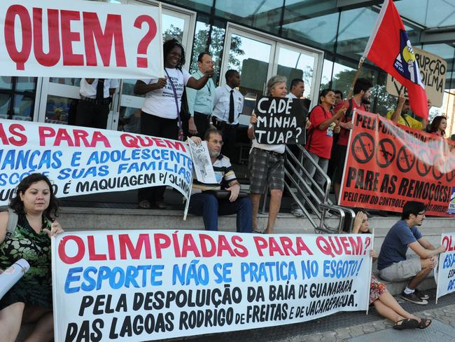 Many Rio residents are unhappy with the social consequences of hosting the Olympics.