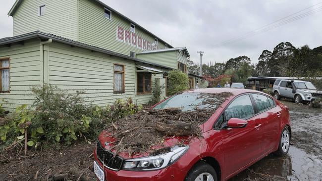 Flood damage at Brookfield restaurant and function centre, Margate. Picture: MATHEW FARRELL