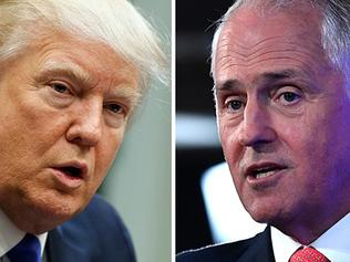 Donald Trump and Malcolm Turnbull. Picture: AP/AAP