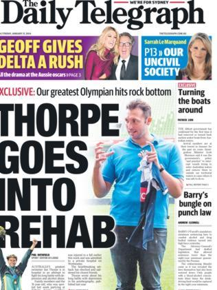 The Daily Telegraph lead on January 31.