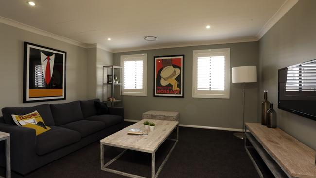 Another lounge room near the home's entrance ensures there are plenty of areas for the whole family.