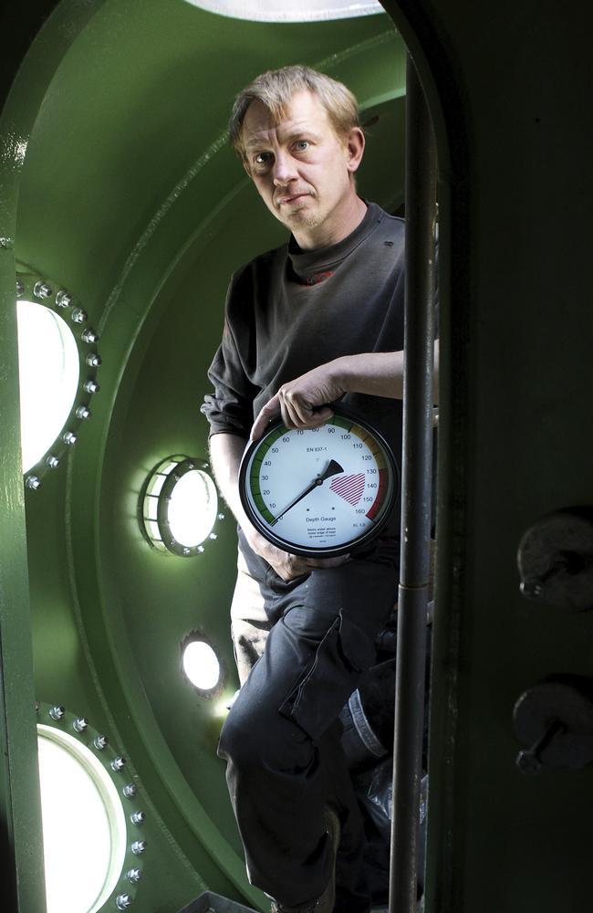 "A file photo form 2008 shows Madsen inside the Nautilus. He later fell out with volunteers and reportedly described it as being '""cursed"". Picture: Niels Hougaard /Ritzau via AP, File."