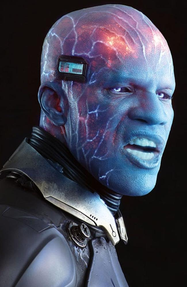 Live wire ... Jamie Foxx endured hours in the make-up chair to transform into Electro.