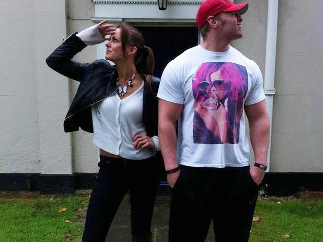 Fit couple ... Lucy and Liam Crossley were both personal trainers. Picture: Facebook