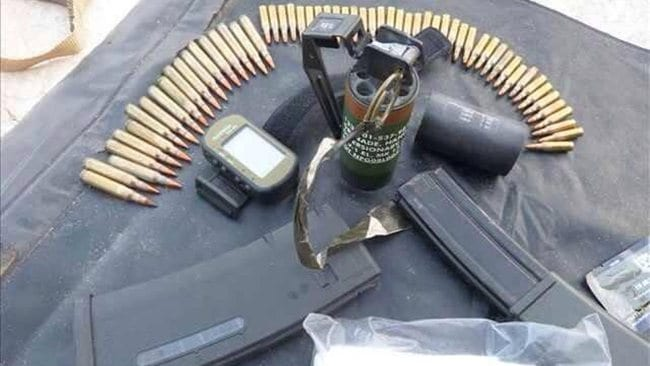 Al Shabab has released this picture via Twitter purporting to show ammunition and equipment abandoned by US Navy SEALS after their failed assault on a stronghold near the Somali town of Barawe