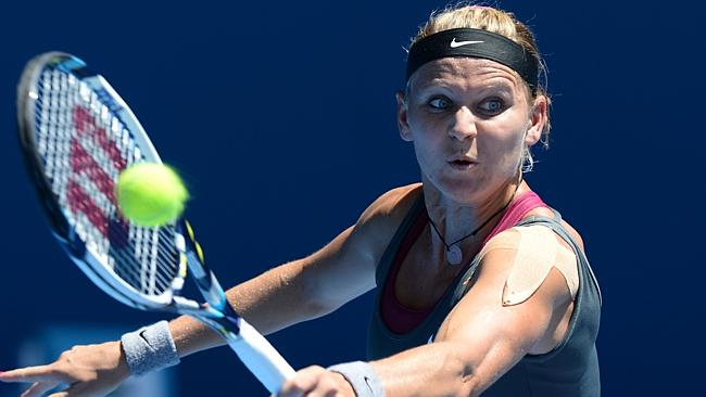 Lucie Safarova caught opponent Li Na off guard in the first set before succumbing to the fourth seed in three sets. Picture: AFP